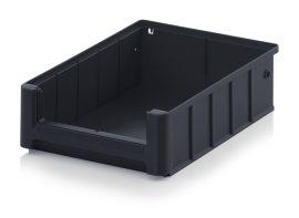 ESD nyitott tárolódoboz, 30x23,4x9 cm