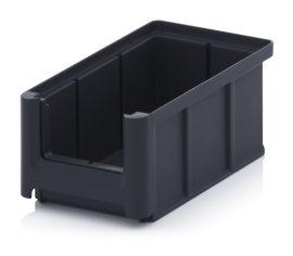 ESD nyitott tárolódoboz, 16x10,2x7,5 cm