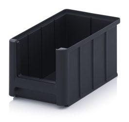 ESD nyitott tárolódoboz, 22,5x15x12,5 cm