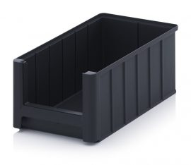 ESD nyitott tárolódoboz, 35x21x15 cm