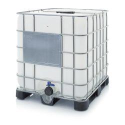 AB IBC  1000 L tartály műanyag raklapon K 225.80 UN kóddal