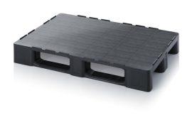 ABR 1208 tisztatéri raklap újrahasznosított anyagból peremmel 120 x 80 x 15,2 cm