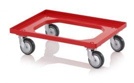Szállító roller gumikerekekkel, 62x42 cm, 4 irányítható kerék menetvédelemmel