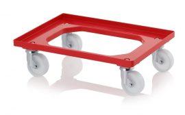 Szállító roller polyamid kerekekkel, 62x42 cm, 4 irányítható kerékkel
