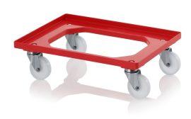 Szállító roller polyamid kerekekkel, 62x42 cm, 4 rozsdamentes acél kerékkel