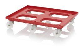 Szállító roller poliamid kerekekkel, 82x62 cm, 6 nemesacél irányítható kerék