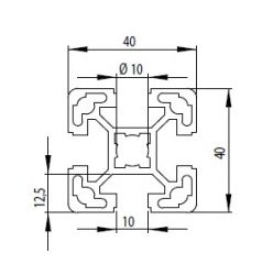 Bosch kompatibilis alurofil 40x40 L Nut10