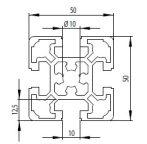 Bosch kompatibilis Profil 50x50 L Nut10
