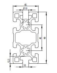 Bosch kompatibilis alurofil 45x90 S Nut10