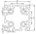 Bosch kompatibilis alurofil 90x90 L Nut10