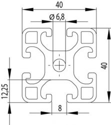 Item kompatibilis alurofil, 40x40L Nut8