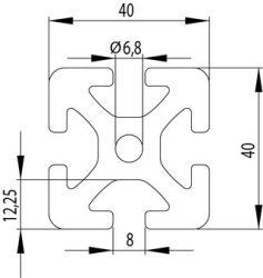 Item kompatibilis alurofil, 40x40 S Nut8