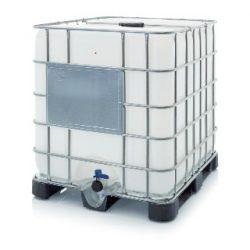 AB IBC 1000 L tartály műanyag raklapon K 150.50